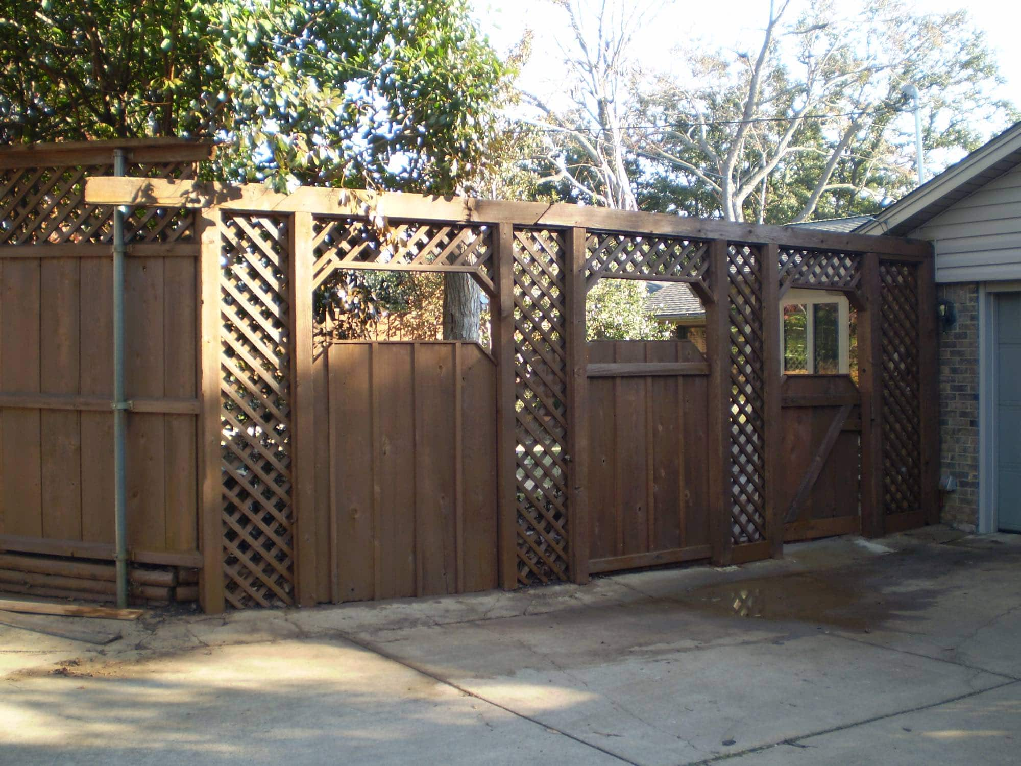 Fence Repair And Stain After