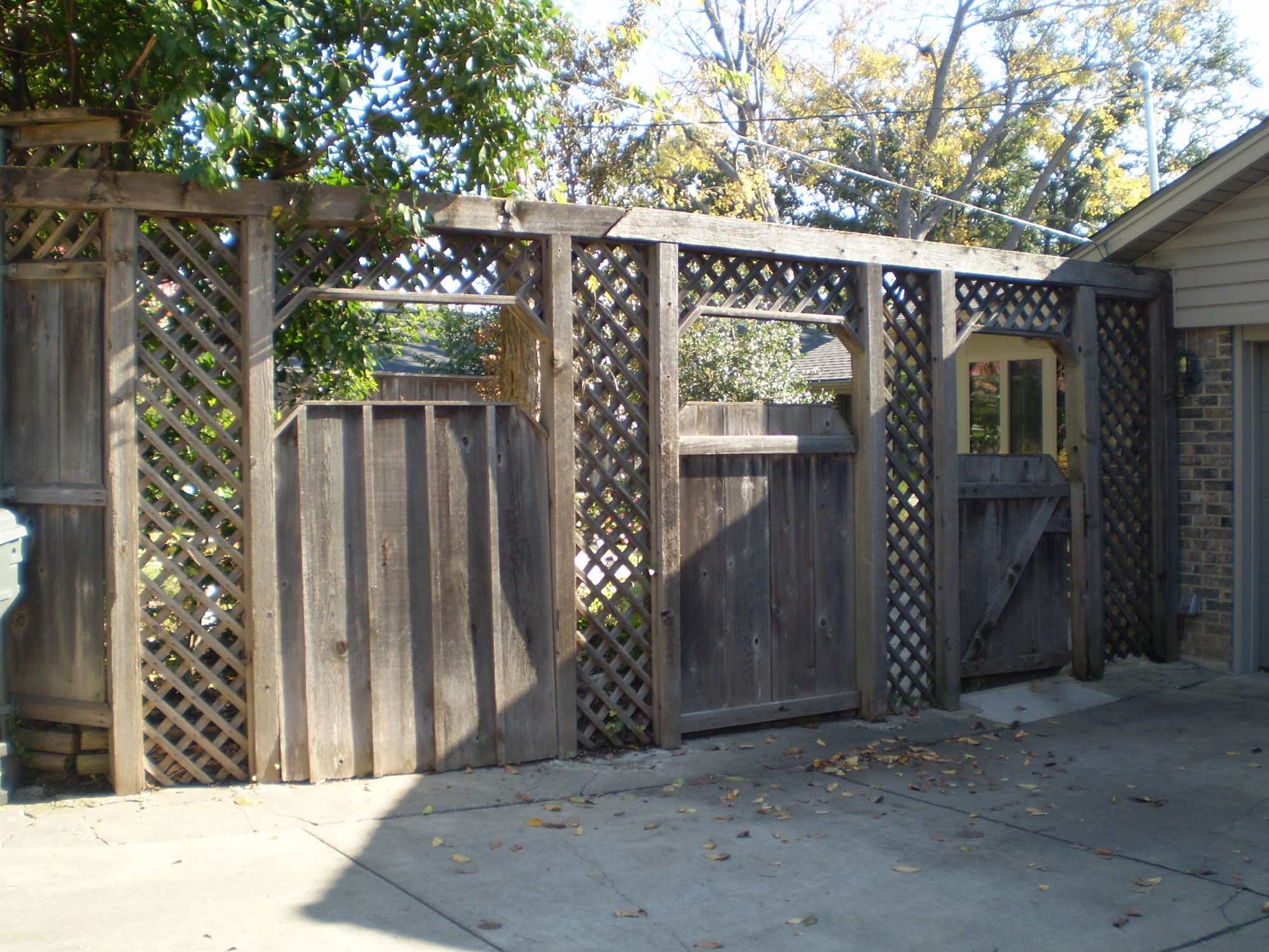 Fence Repair And Stain Before