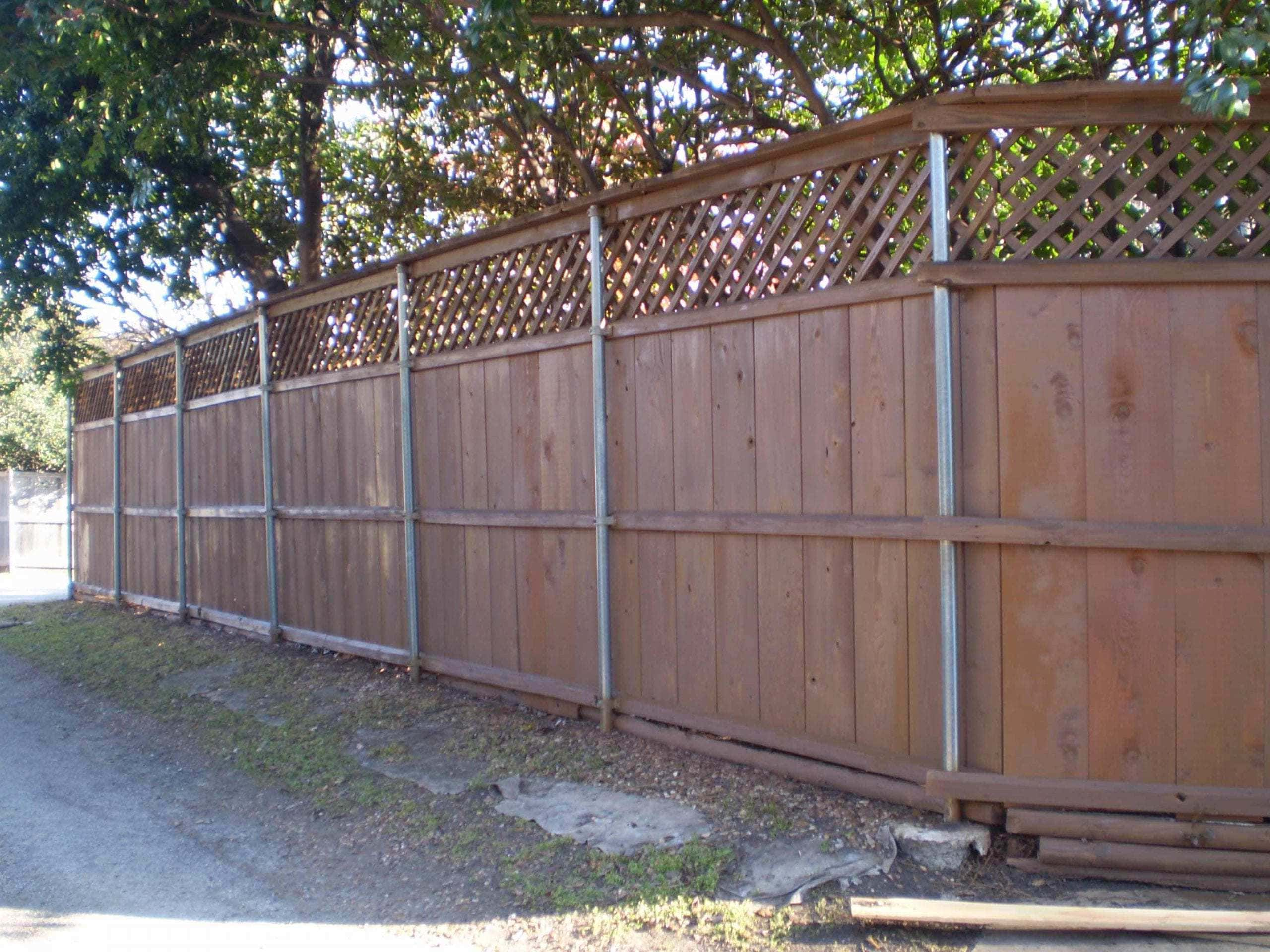 Wood Staining Fence After