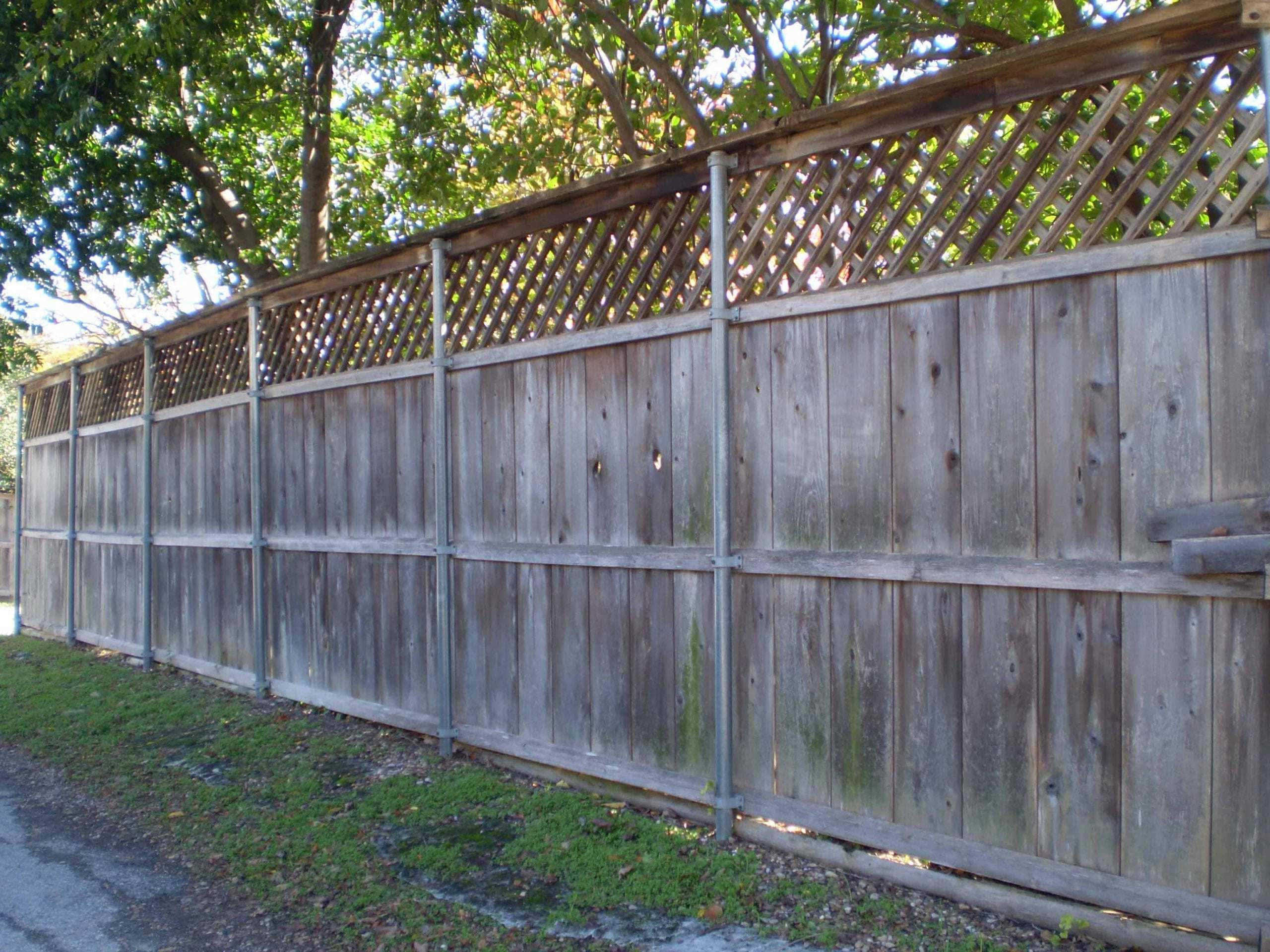 Wood Staining Fence Before