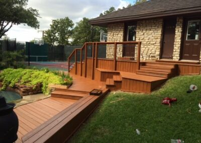 Wood Staining Stairs